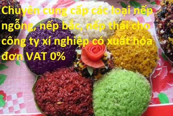 Chuyên cung cấp các loại nếp ngỗng, nếp bắc, nếp thái cho công ty xí nghiệp có xuất hóa đơn VAT 0%